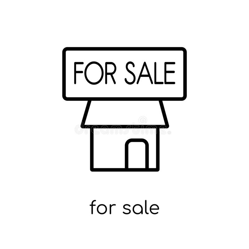 En venta icono de la colección ilustración del vector