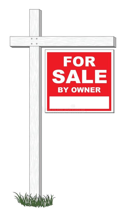 En vente par le signe de propriétaire illustration libre de droits