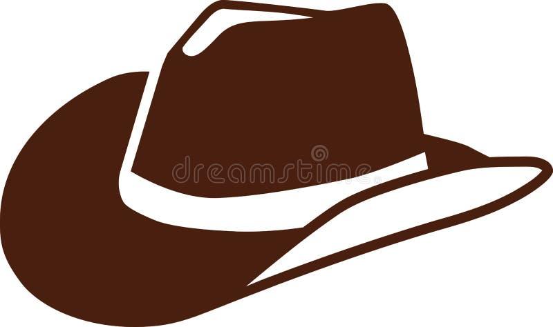 En verklig cowboyhatt stock illustrationer