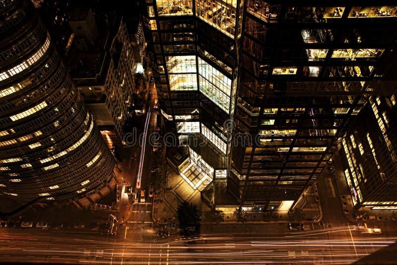 En vertikal sikt av Manhattan skyskrapor royaltyfria foton