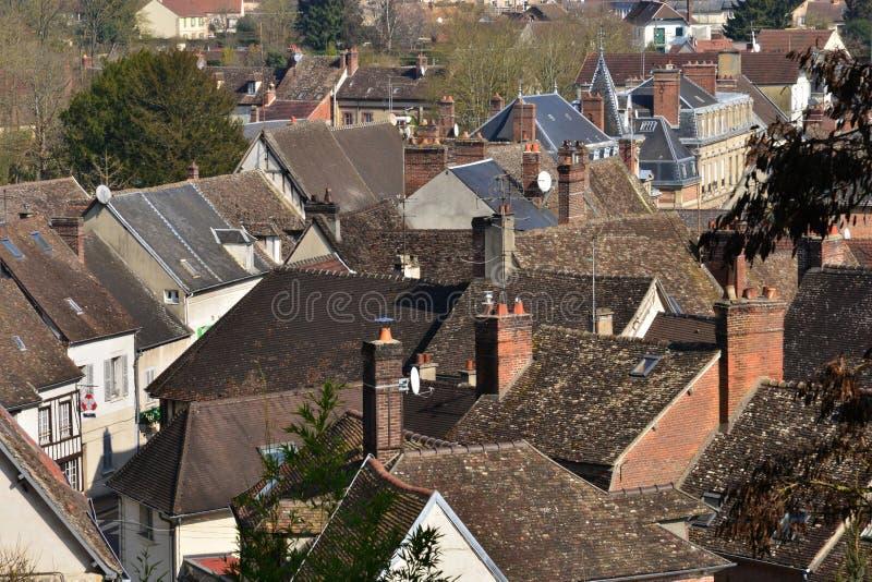 En Vexin, Francia di Chaumont - 14 marzo 2016: città immagine stock libera da diritti