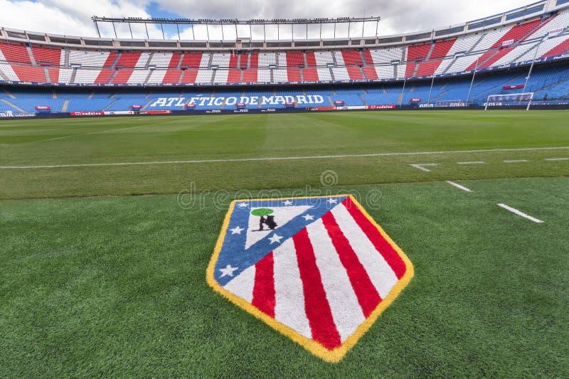 En Vicente Calderon Stadium imagen de archivo libre de regalías