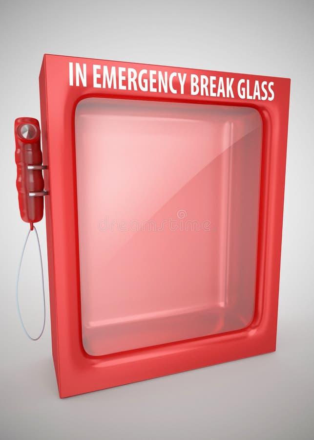 En vidrio de la rotura de la emergencia stock de ilustración