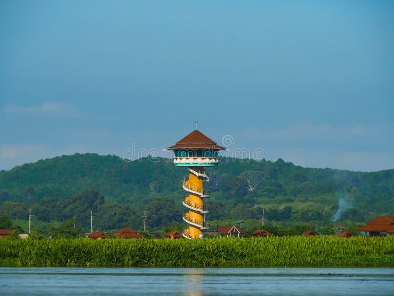 En vidsträckt sjö, träsk, Talay Noi Wetlands, Phatthalung, Thailand royaltyfri foto