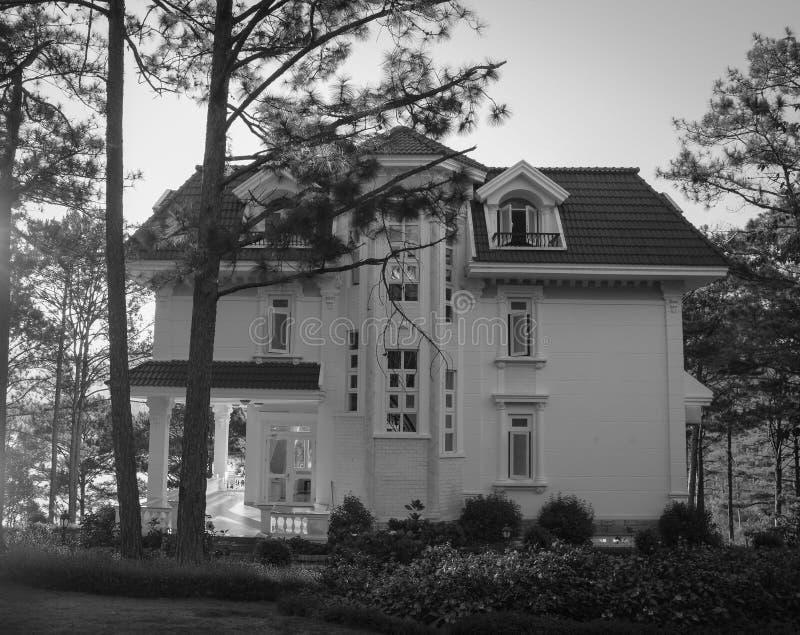 En villa på skogen royaltyfria bilder