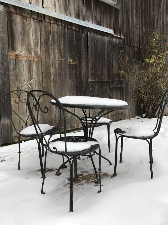 En vinterplats på en Ohio lantgård royaltyfri fotografi