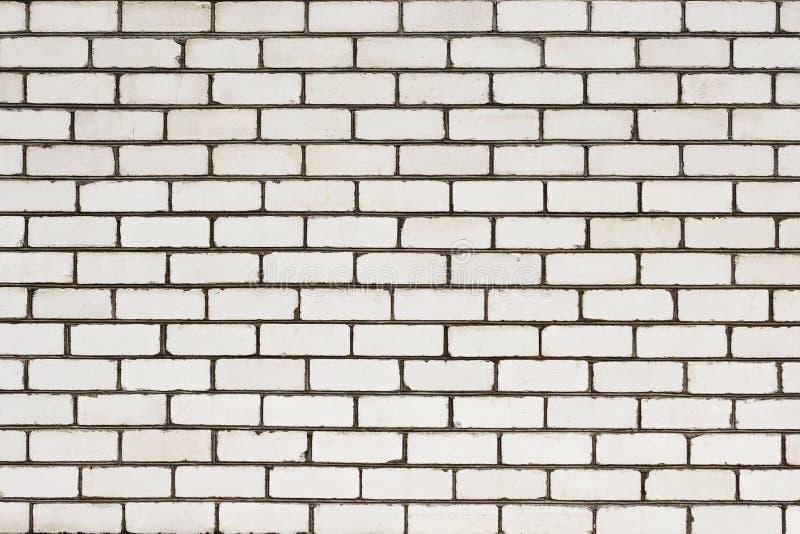 En vit bakgrund för tegelstenvägg royaltyfria foton