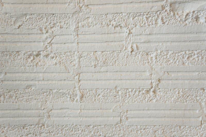En vit tegelstenvägg Modern vit textur för tegelstenvägg för bakgrund royaltyfri foto