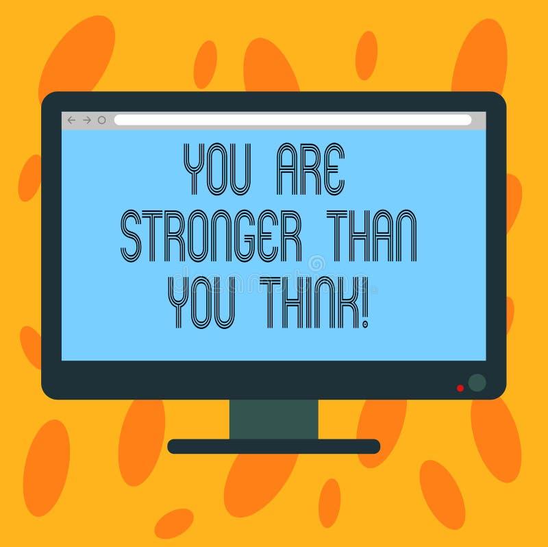 En vous écrivant à apparence de note soyez plus fort que vous pensez Force de présentation d'adaptabilité de photo d'affaires à s illustration libre de droits