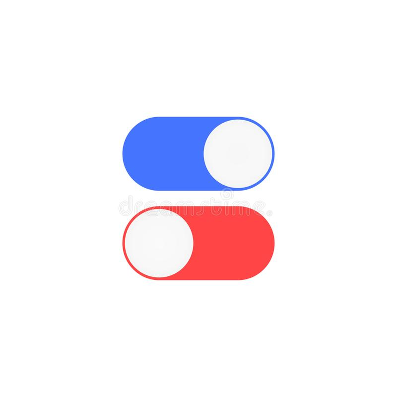Enable and disable toggle. Enable and disable position toggle icons illustration vector illustration