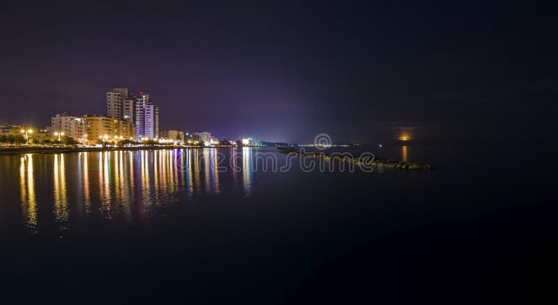 Enaerios nocą, Limassol zdjęcia stock