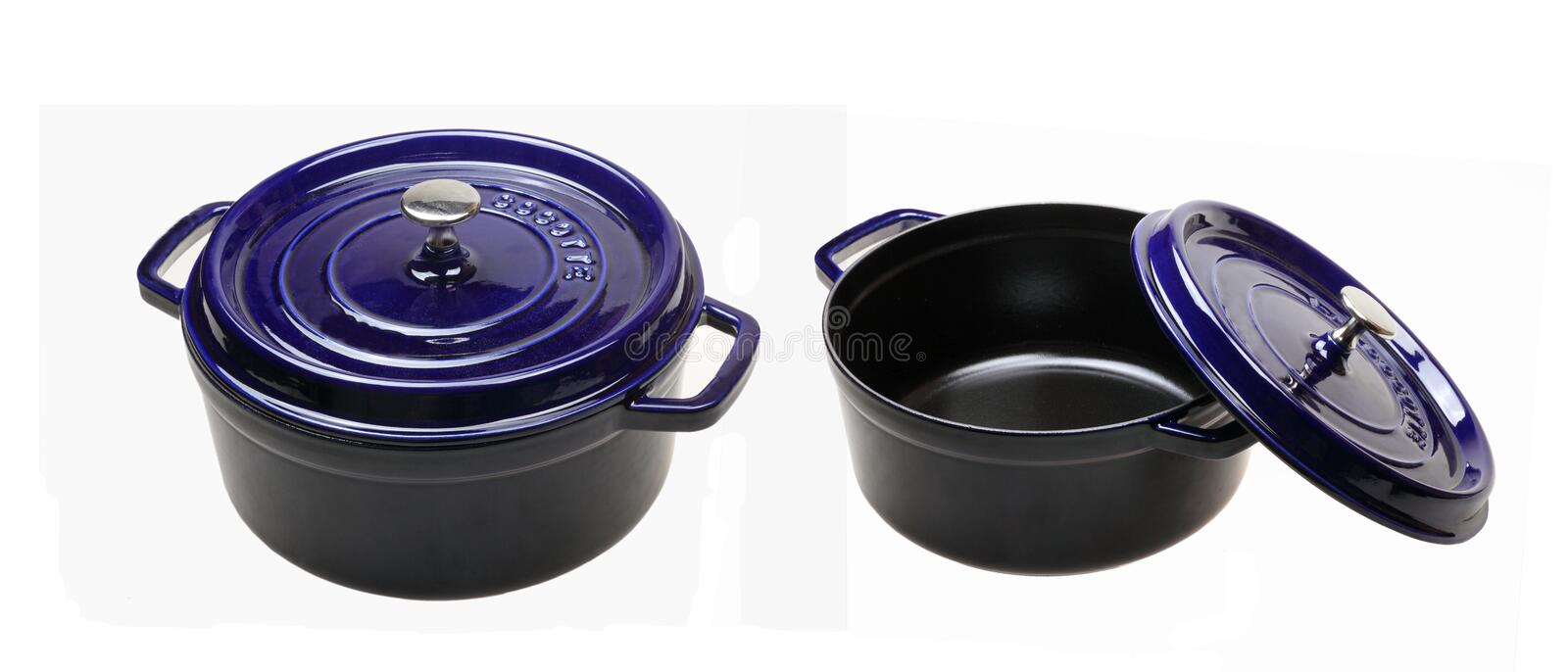 Download Enamel cast iron pan stock photo. Image of metal, cocotte - 26653084