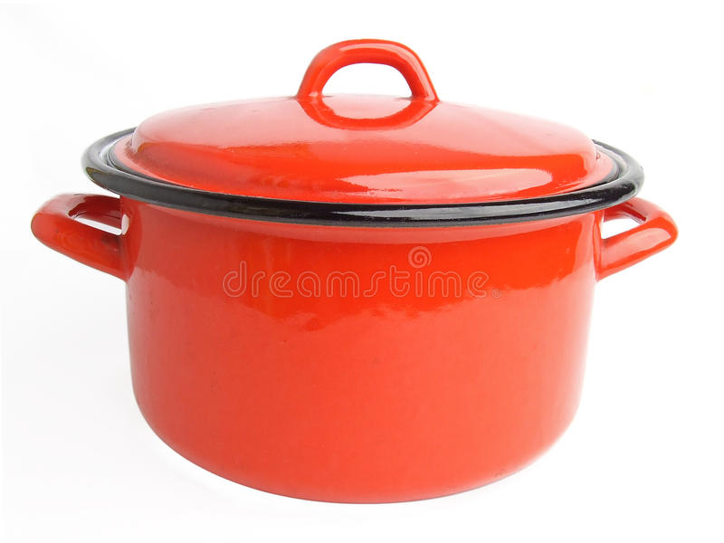Enamel cooking pot royalty free stock image