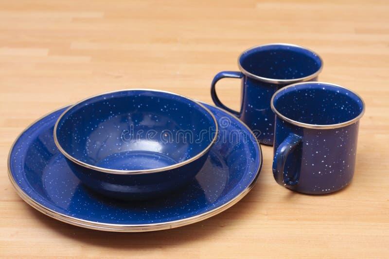 Enamel Plate Set Stock Image Image Of Dishes Crockery
