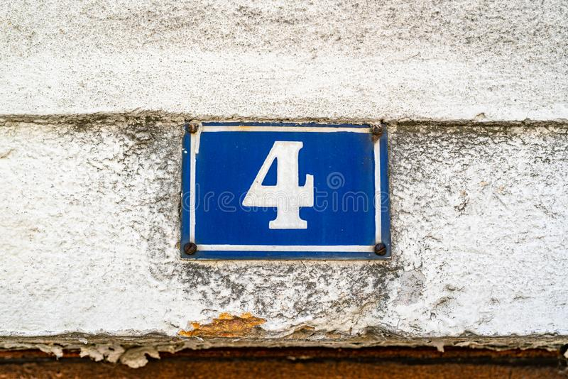House Number 4 royalty free stock image