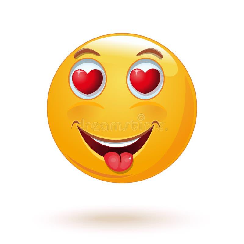 Enamored emoji również zwrócić corel ilustracji wektora ilustracji