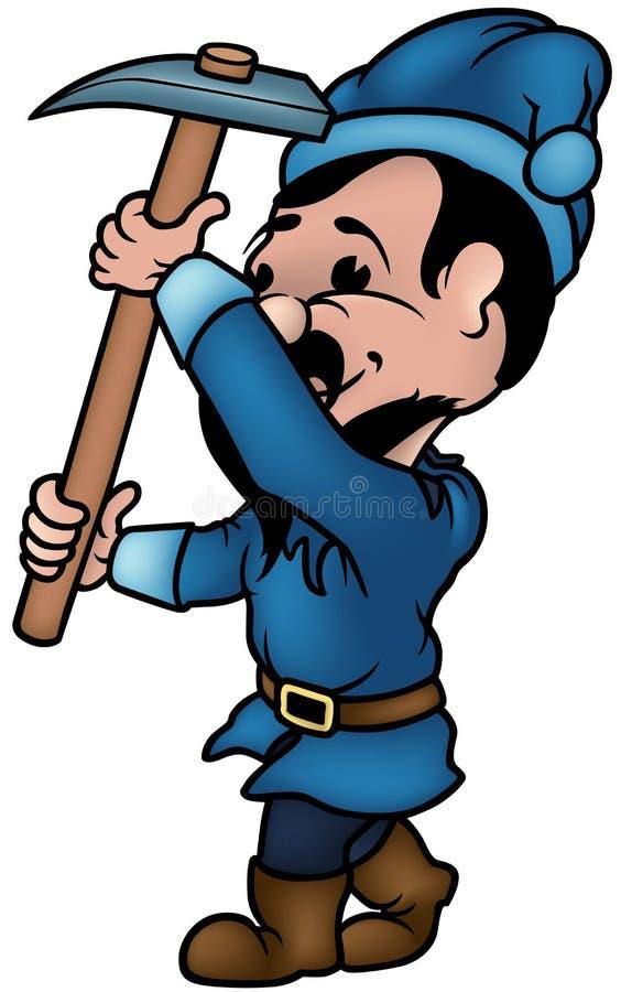 Enano azul stock de ilustración