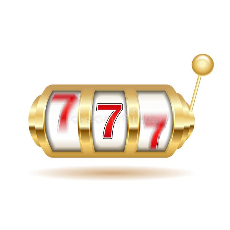 Enarmad bandit Affisch för jackpottdobblerimaskin Förmögenhettecken Illustration för kasino 777 stock illustrationer