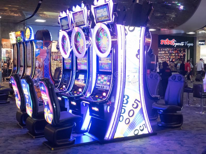 Enarmade banditer i Las Vegas, USA royaltyfria bilder