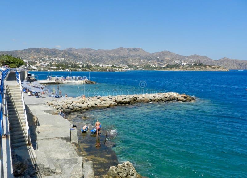 Enastående vy över Mirabello Bay Crete fotografering för bildbyråer