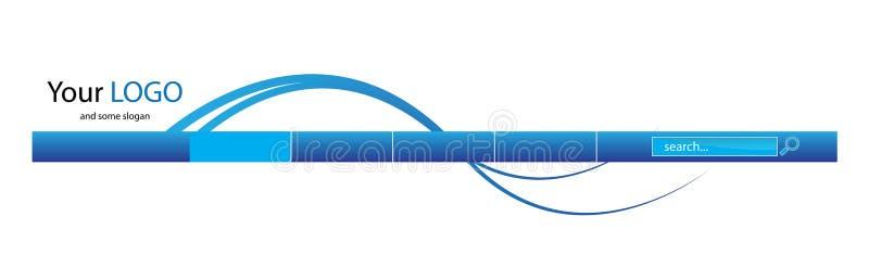 Encabeçamento azul do Web ilustração stock