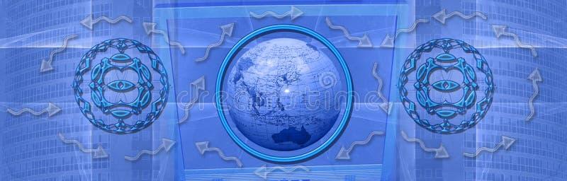 Encabeçamento: Conexões e Internet mundiais ilustração do vetor