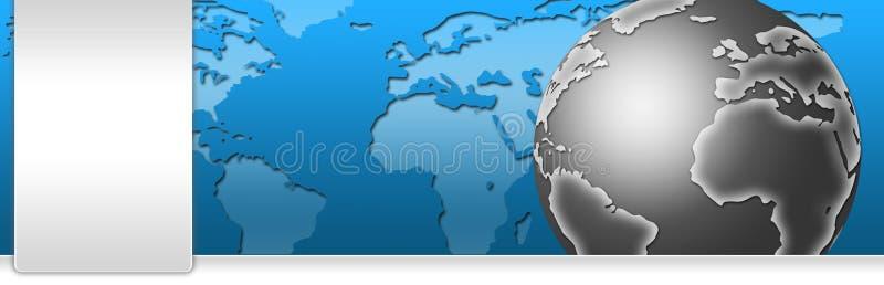 Encabeçamento da bandeira do negócio e da tecnologia ilustração royalty free