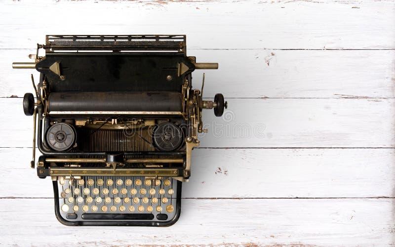 Encabeçamento da máquina de escrever do vintage imagens de stock