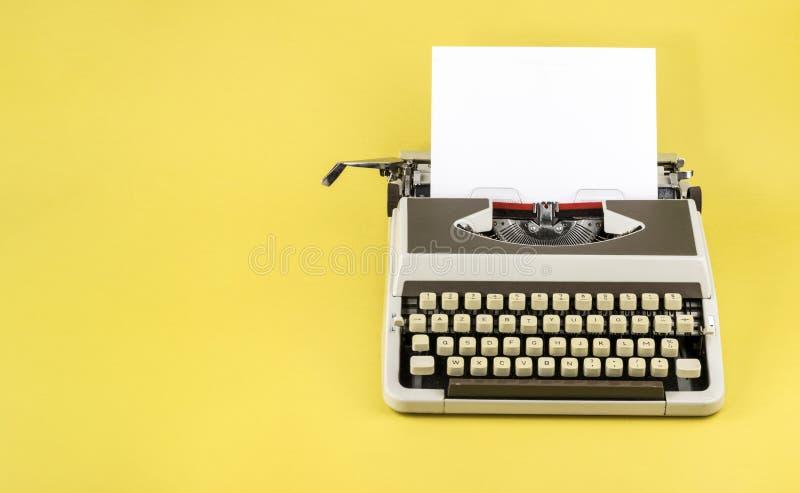 Encabeçamento da máquina de escrever do vintage foto de stock