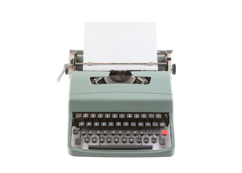 Encabeçamento da máquina de escrever do vintage isolado no branco imagem de stock royalty free
