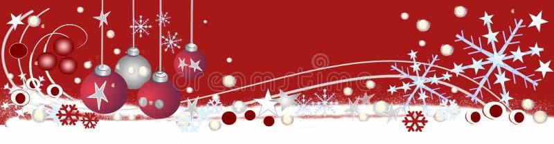 Encabeçamento decorativo do Natal ilustração stock