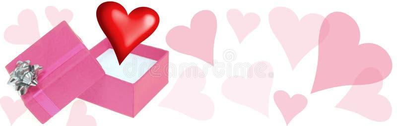 Encabeçamento do amor ilustração do vetor