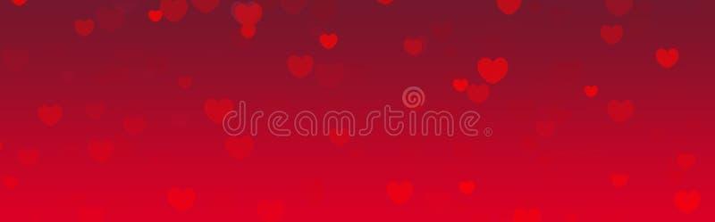 Encabeçamento do Web do dia dos Valentim ilustração do vetor