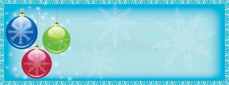 Encabeçamento do Web do Natal ilustração do vetor