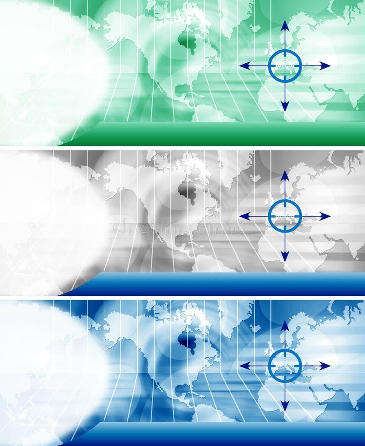 Encabeçamento do Web site ilustração do vetor