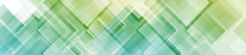 Encabeçamento geométrico abstrato colorido da Web dos quadrados ilustração stock