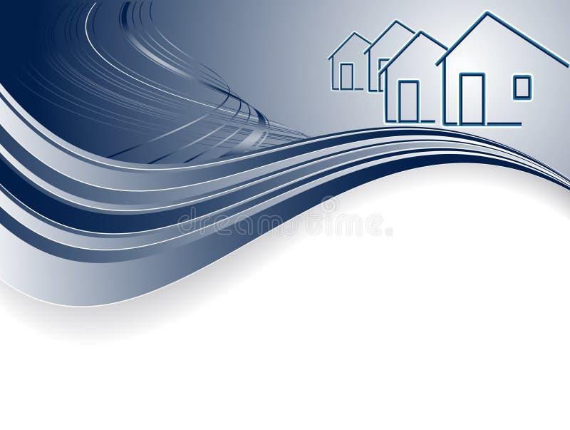 Encabeçamento para bens imobiliários ilustração royalty free