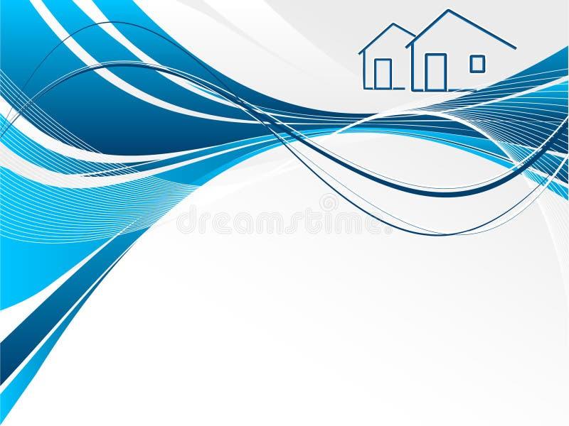 Encabeçamento para bens imobiliários ilustração do vetor