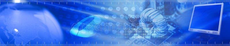 Encabeçamento a respeito da tecnologia e da comunicação ilustração stock
