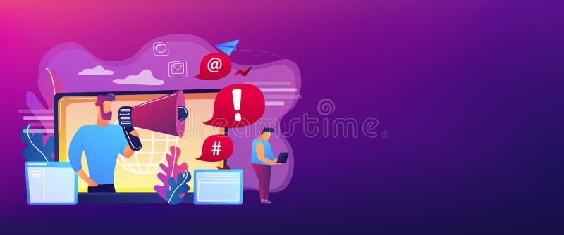 Encabeçamento shaming da bandeira do conceito do Internet ilustração stock