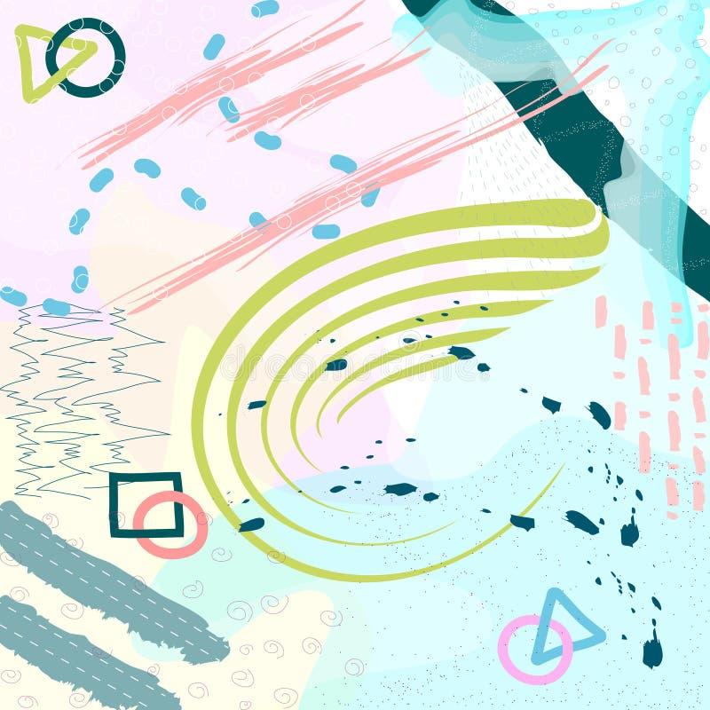 Encabeçamento universal criativo Projeto gráfico moderno Texturas tiradas mão Ideal para o convite da tampa do cartaz do inseto d ilustração do vetor