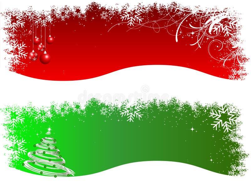 Encabeçamentos do Natal ilustração royalty free