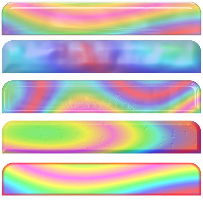 Encabeçamentos Pastel do arco-íris ilustração do vetor