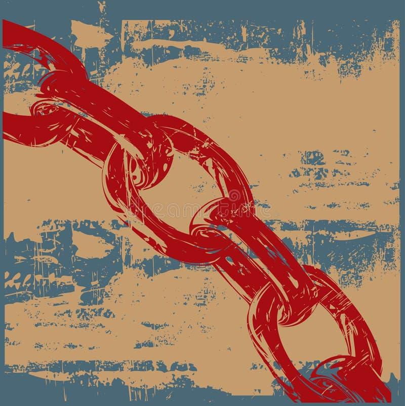 Encadenamiento de Grunge ilustración del vector