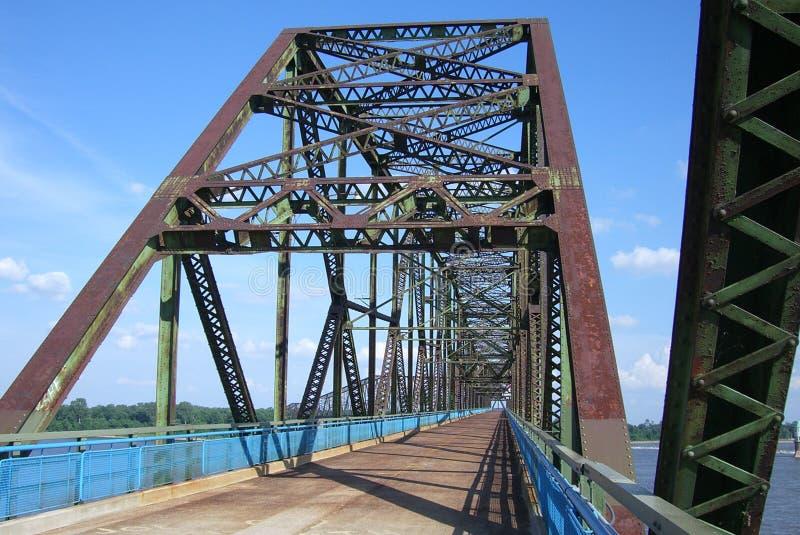 Encadenamiento de la ruta 66 del puente de las rocas fotos de archivo