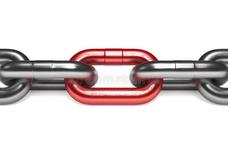 Encadenamiento del hierro con la conexión roja libre illustration