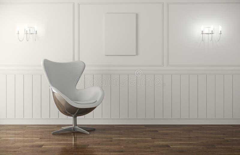Encadenamiento moderno él el interior clásico ilustración del vector