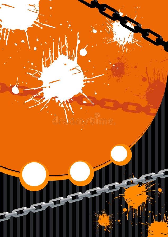 Encadenamientos y pintura de Grunge stock de ilustración