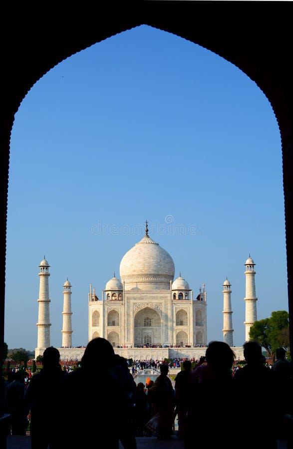 encadré Taj Mahal Âgrâ, uttar pradesh l'Inde image libre de droits