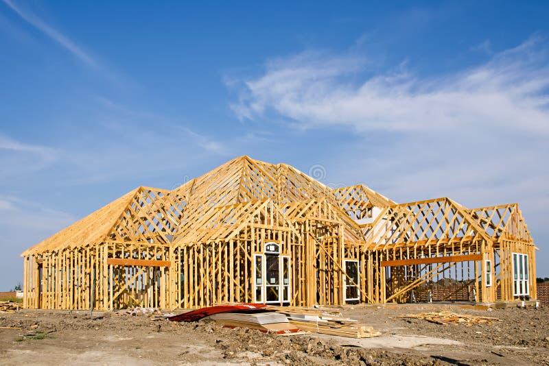Encadrement à la maison neuf de construction photo libre de droits